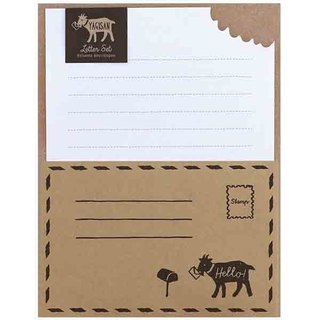 [Japanese] Letter Set LABCLIP series Yagisan stationery set / leather color