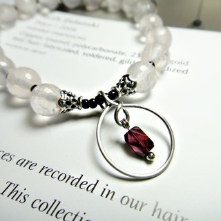 ◎ crystal bracelet Hibiscus x stainless steel bracelets Pomegranate fall