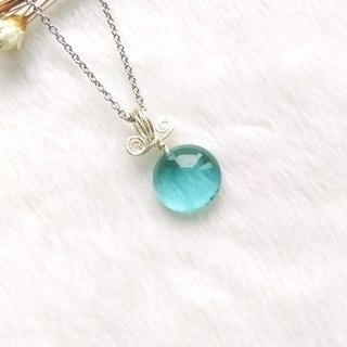 Sweet Candy Candy Glass Necklace - Lake Green