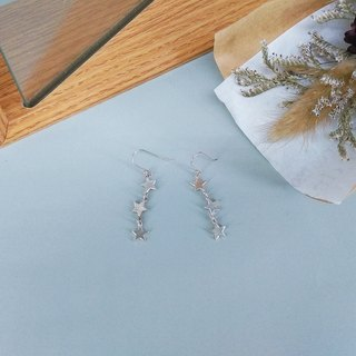 Star / Silver Earrings / Màn workers