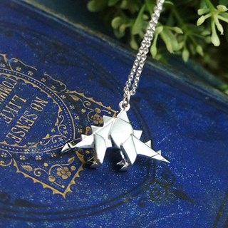 Stegosaurus silver necklaces