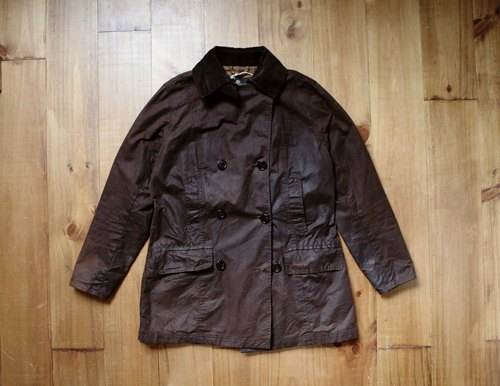 Rolling on [vintage] CJ-3310 BARBOUR dark coffee double-breasted jacket