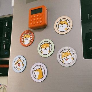 Original Shiba Inu daily face strong magnet / refrigerator full six suits