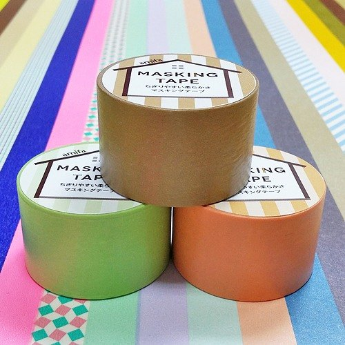 Japan amifa and 30mm plain paper tape into the group 3 [31386] natural color