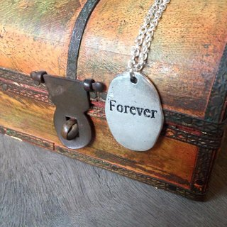 【Story Necklace 故事項鍊】FOREVER不規則切割泥板款式