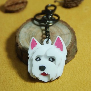 Mao children around key ring / West Highland White Terrier / Cesar dog