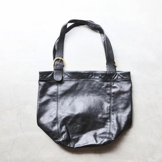A ROOM MODEL - VINTAGE, BA-0484 COACH generous black shoulder bag