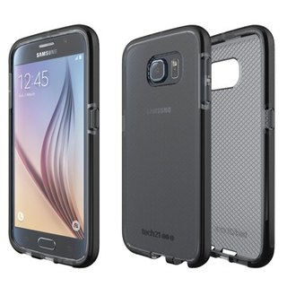 UK Tech 21 Impact Evo Check Samsung S6 super soft crash Plaid Case - transparent black (5055517343664)