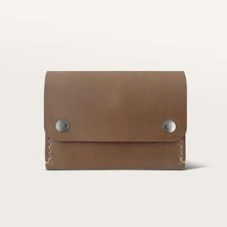 Double Buckle Wallet / Wallet - Brown