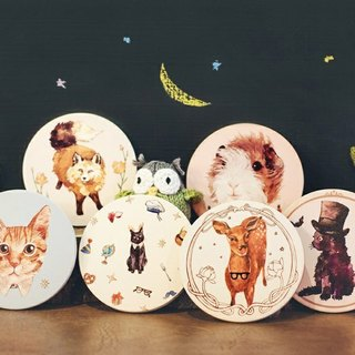 Good day to push a good thing: small animals chubby coasters group optionally three combination (original price 880 yuan) Christmas gifts