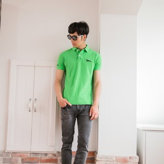 Cotton mesh Polo Shirt classic green