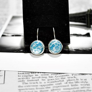Time Gem <Blue Flower> - Alloy Needle Earrings - Limited X1-