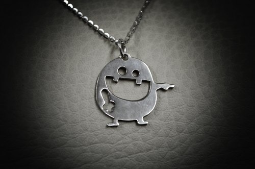 Ha Ha Ha Handmade 925 Sterling Silver Pendant and necklace