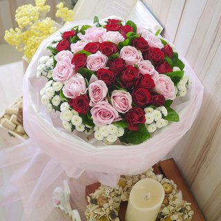 IDUN Flower Pink Rose Wedding Bouquet (Limited to Tainan)