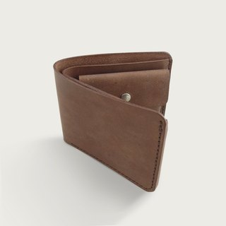 Classic Coin Bag Wallet / Short Clip / Wallet - Deep Coffee