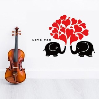 Smart Design creative wall stickers ◆ Seamless elephant love
