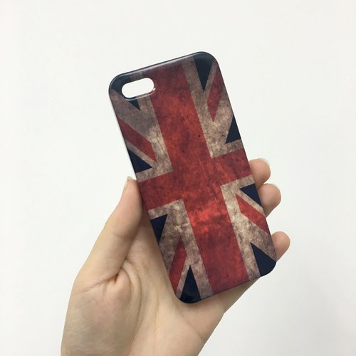 Vintage Union Jack Flag 3D Full Wrap Phone Case, available for  iPhone 7, iPhone 7 Plus, iPhone 6s, iPhone 6s Plus, iPhone 5/5s, iPhone 5c, iPhone 4/4s, Samsung Galaxy S7, S7 Edge, S6 Edge Plus, S6, S6 Edge, S5 S4 S3  Samsung Galaxy Note 5, Note 4, Note 3,