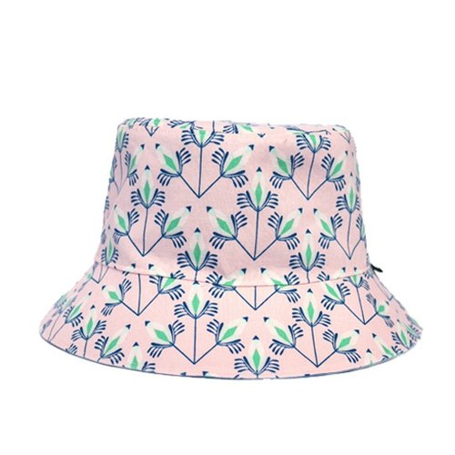 Huaping sided pink peacock hat