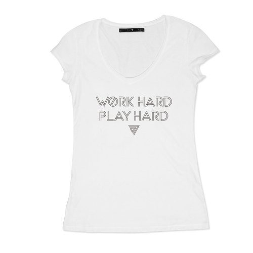 SEVEN CRASH | WORK HARD PLAY HARD T (Slim female version) M