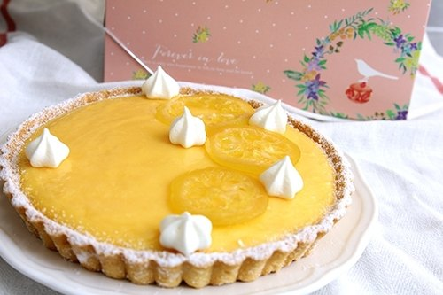 Pure lemon tart (8 inches) | Huang squeezed lemon juice made of pure natural flavor