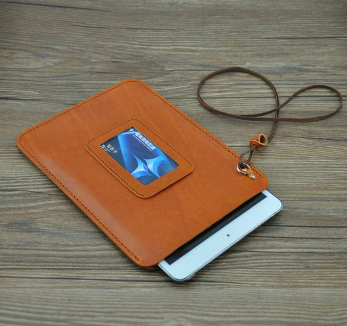 Lanyard Apple iPad mini models handmade leather protective sleeve free Nokia N1 Custom