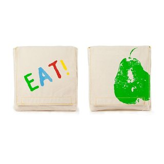 Fluf organic cotton small bag (a group of two into) - small pear + EAT