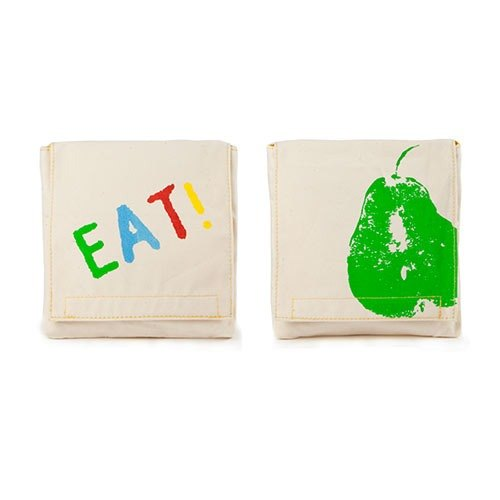 [Environmental tableware] fluf organic cotton small bag (a group of two into) - small pear + EAT