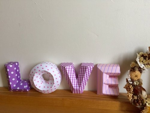 Wedding arrangement / wedding props / LOVE / three-dimensional character / small section / Purple