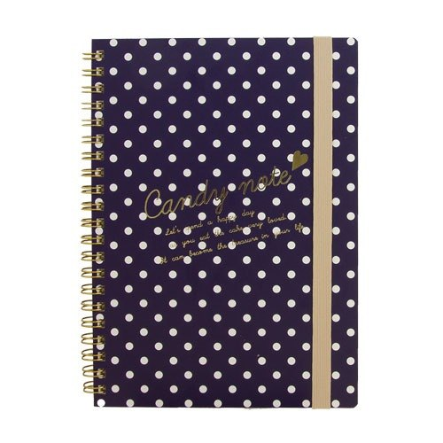 [Japanese] Candy LABCLIP series A5 note notebook / dark blue
