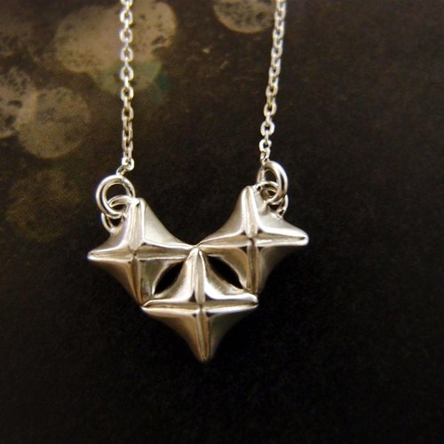 Love Silver Cross necklace