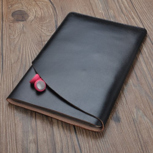 IPad mini 123 handmade cowhide perspective wrap cut protective cover