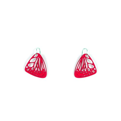 Red butterfly earrings jewelry // 3D Print
