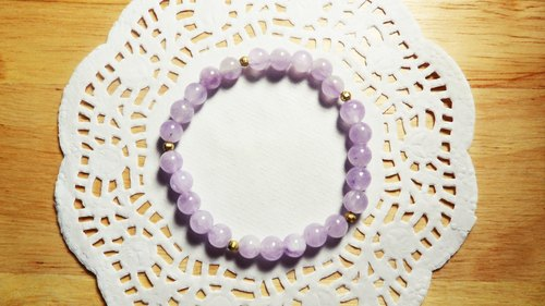 Belle Epoque | purple chalcedony x brass bracelet