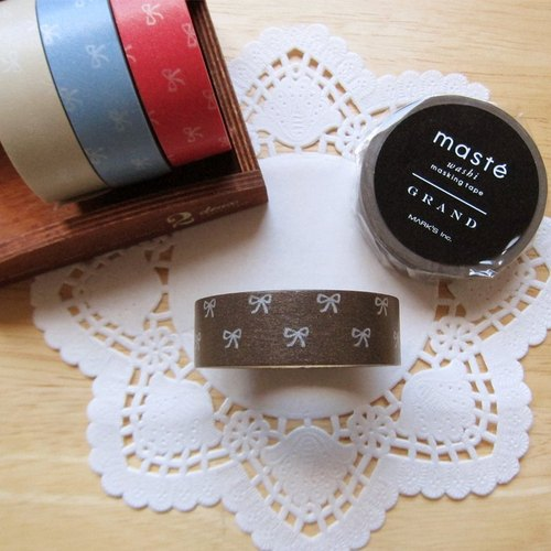 maste Masking Tape and paper tape [bow - coffee (MSG-MKT17-BR)]