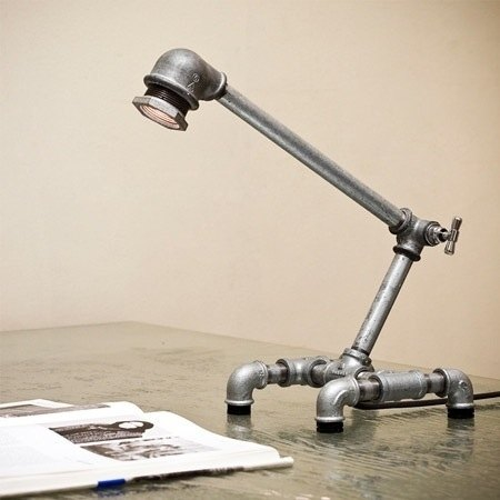 ► Zingidea & amp; Design ◄ retro colors of industrial wind - pipes Creative desk lamp