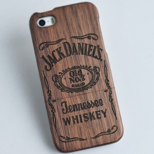 Wood iPhone mobile phone shell, pure wood Samsung Samsung mobile phone shell, wood iPhone 6s / 6s plus / 6 / 6plus / 5s / 5 / 5c / 4 / 4s mobile phone shell, wood Samsung Samsung galaxy S6 / Note4 / Note3 / S5 / S4 phone shell, creative gifts, WHISKEY, fre