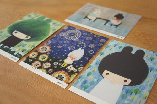 Transparent picture postcards -B