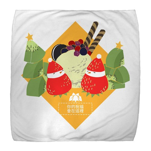 [Handongsongnuan] ordered a Christmas handkerchief! - Strawberry sundae snowman -
