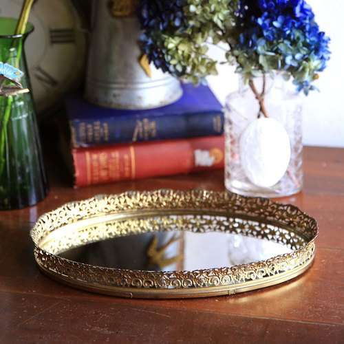 American antique jewelry mirror disk tray No.1 mirror hanging mirror