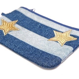 Star Gazing Denim Pouch