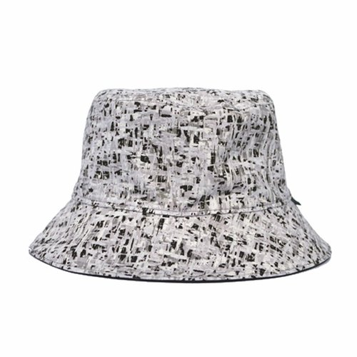 Black and gray abstract sided hat