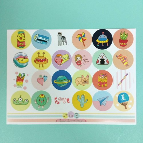 Sweet Secret Small round stickers / fourth group