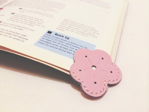 All hand-made cow leather Zemoneni cherry Bookmarks Bookmarks