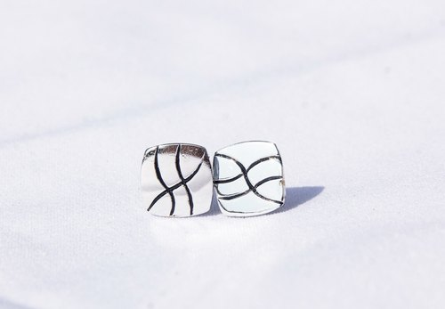 Natural series -River-handmade Silver earrings