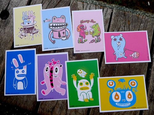Artists SONO classic B series Postcards / 8 set
