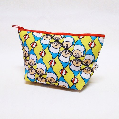 """People person"" Original illustration Cosmetic - Circus (Universal bag / debris bag / designer bag / waterproof)"