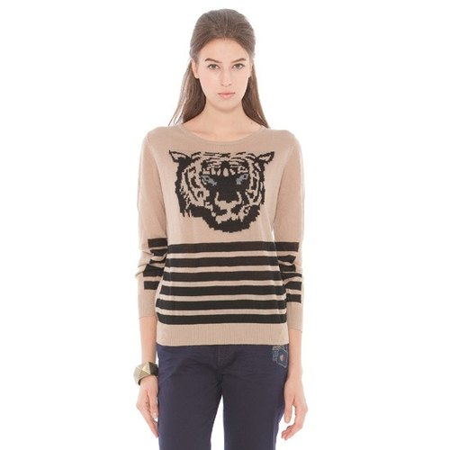 [KIINO] animal totem round neck sweater Jacquard (3842-1605-22)