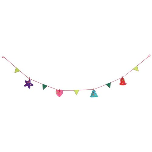 GINGER │ Denmark and Thailand Design - Christmas garland bunting / star / love / bell