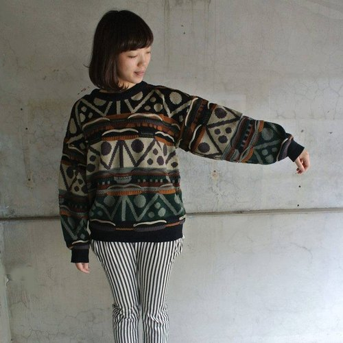 │Slowly│ cold - three-dimensional lines - the ancient art of Japanese retro sweater │vintage forest sweet girl.....