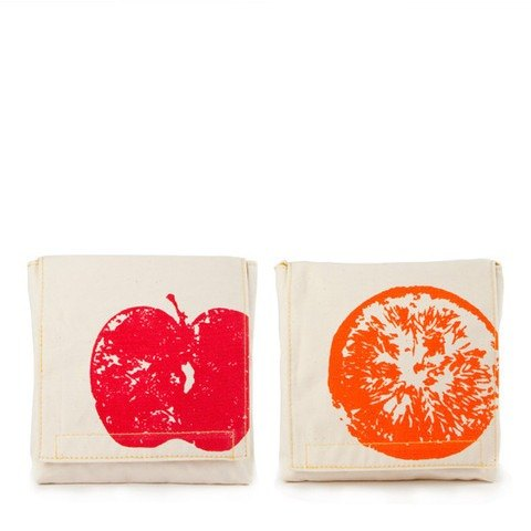 Fluf organic cotton small bag (a group of two into) - red apple + incense